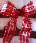 Red/white Plaid ribbon