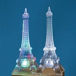 Small Acrylic Eiffel Tower w/LED Light