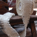 White Jute ribbon
