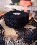 Black Jute ribbon