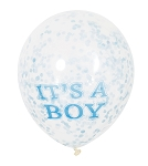 It's A Boy Confetti latex balloons