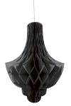 BLACK Tissue chandelier