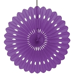 16 inch tissue paper fan PURPLE UI63192