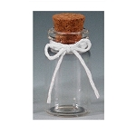 Glass bottle with cork (12pcs)