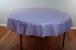 LAVENDER 84 inch round plastic tablecover