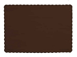 CHOCOLATE BROWN Paper place mat