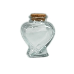 Glass heart shaped bottle