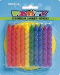 Rainbow spiral birthday candles