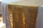 Sequin Table Runner 14inx108in CHAMPAGNE