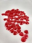 Acrylic hearts RED