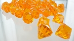 Acrylic diamonds ORANGE close out