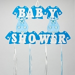 Baby Shower Boy Overall Foam Sign BLUE