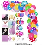 Rainbow Candyland balloon garland