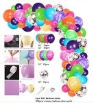 Rainbow fiesta balloon garland