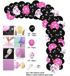 Minnie mouse Pink and black balloon garland