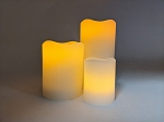 LED Flameless flickering candles made with real wax