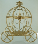 Wire gold pumpkin carriage