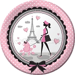Party in Paris Dinner Plates