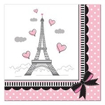 Party in Paris Beverage Napkins