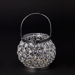 Hanging Crystal Candle Holder 4.5 inch