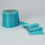 4 inch diamond mesh roll TURQUOISE