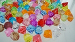 Acrylic diamonds ASSORTED COLORS