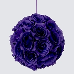 PURPLE Silk pomander flower ball