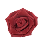Burgundy Foam roses (12 count)