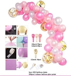 Pink gold Balloon garland