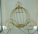 Wire Cinderella pumpkin carriage GOLD