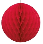 8 inch honeycomb ball RED