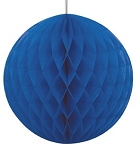 8 inch honeycomb ball ROYAL BLUE