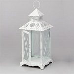 Victorian Metal glass Lantern