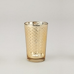 Lattice Glass Votive Candle Holder (6 count) GOLD