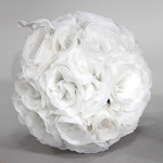 WHITE Silk pomander flower ball