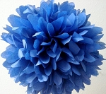 ROYAL BLUE Tissue paper Pom Pom