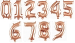 34inch Rose gold Mylar numbers