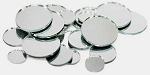 Round glass mirrors