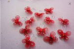 RED organza buttefly (50 count)