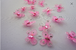 PINK Organza butterfly (50 count)