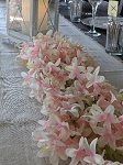 68inch long Pink and ivory Artificial flower garland
