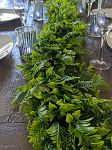 62 inch Artificial fern and gum tree garland