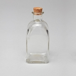 Square Glass Bottle with Cork