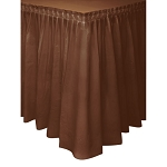 BROWN plastic tableskirt