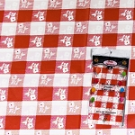 Gingham plastic tablecloth 54