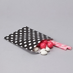 BLACK Treat Bag Polka Dot
