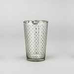 Lattice Glass Votive Candle Holder (6 count) SILVER