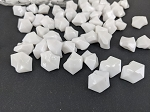 White acrylic rocks