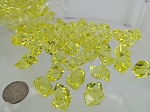 Yellow acrylic rocks
