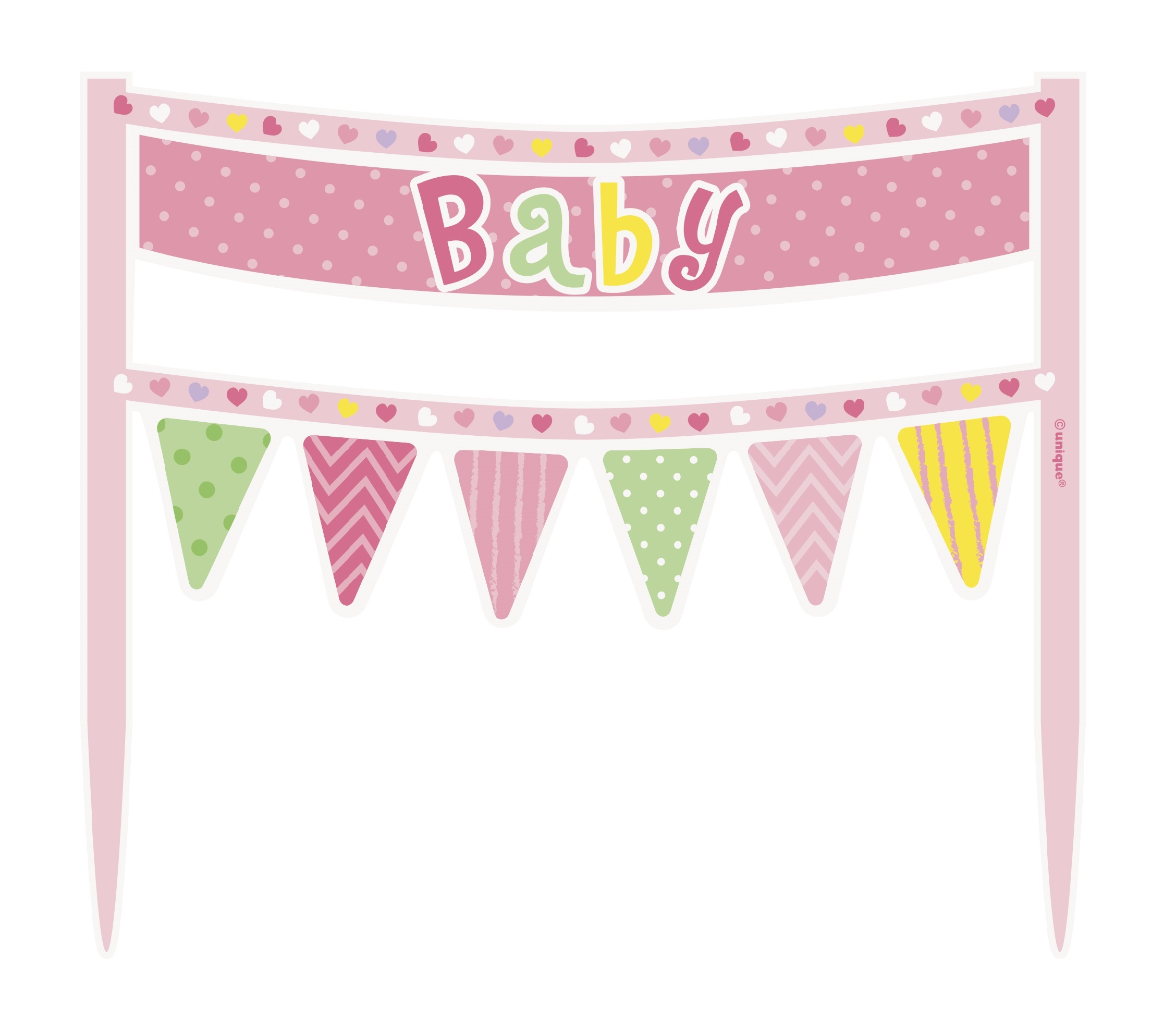 pink baby girl cake banners are an easy and inexpensive way to add a